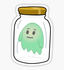 Ghost In A Jar Sticker