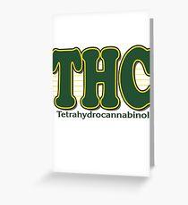 THC Cannabis Greeting Card