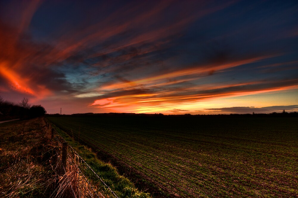 Last Of The Autumn Sunsets by Billy Hodgkins