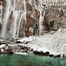 Frozen fairytale. Plitvice waterfalls  by evimagery