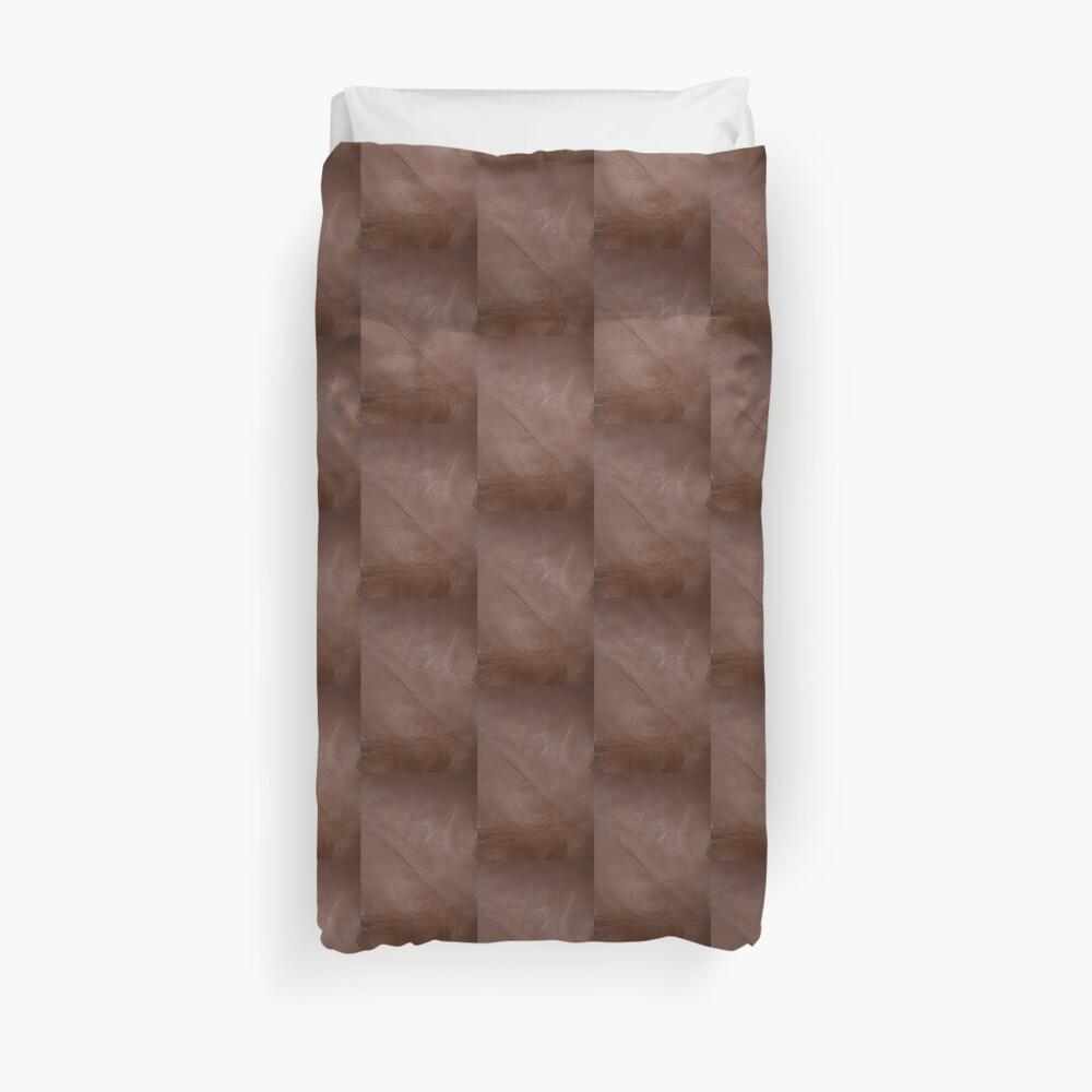 2D Photo-Sampling Faux Brown Leder-Effekt Bettbezug