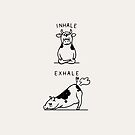 Inhale Exhale Cow by Huebucket