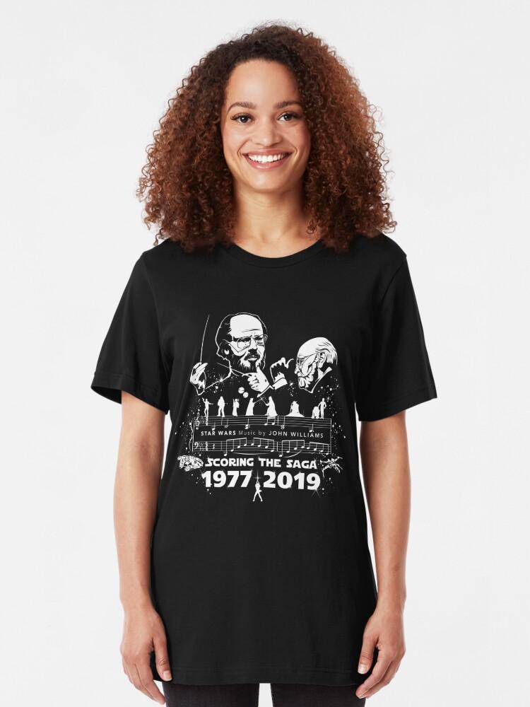 Alternate view of Movie Composers Series 1 - John Williams (Star Wars - Scoring the Saga) Slim Fit T-Shirt