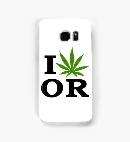I Love Marijuana Oregon Cannabis Weed Samsung Galaxy Case/Skin
