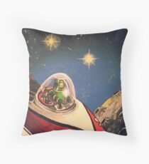 Space Toys Throw Pillow