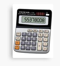 Naughty calculator Canvas Print