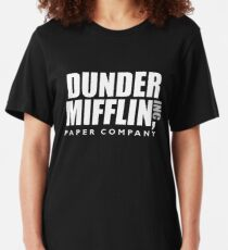 The Dunder Office Mifflin Inc. Design, T-Shirt, tshirt, tee, jersey, poster, Original Funny Gift Idea, Dwight Best Quote From Slim Fit T-Shirt