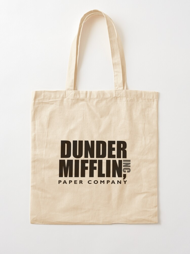 Alternate view of The Dunder Office Mifflin Inc. Design, T-Shirt, tshirt, tee, jersey, poster, Original Funny Gift Idea, Dwight Best Quote From Tote Bag