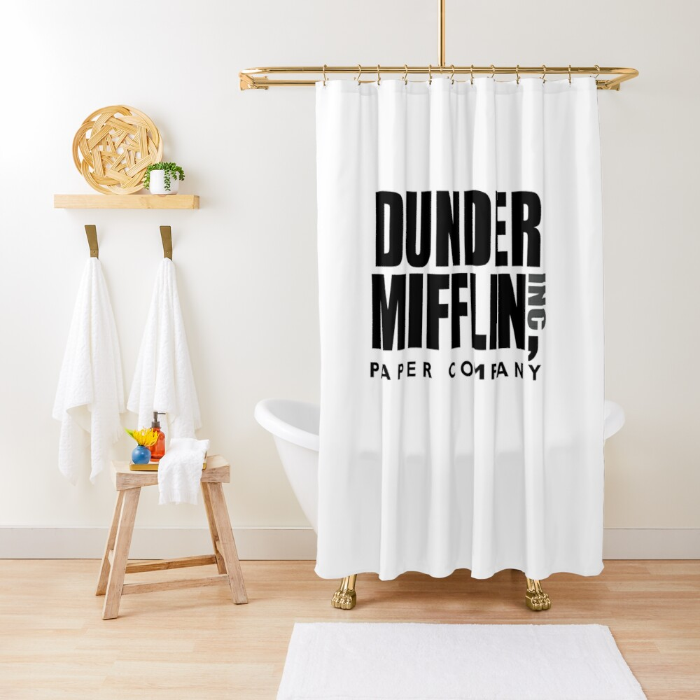 The Dunder Office Mifflin Inc. Design, T-Shirt, tshirt, tee, jersey, poster, Original Funny Gift Idea, Dwight Best Quote From Shower Curtain