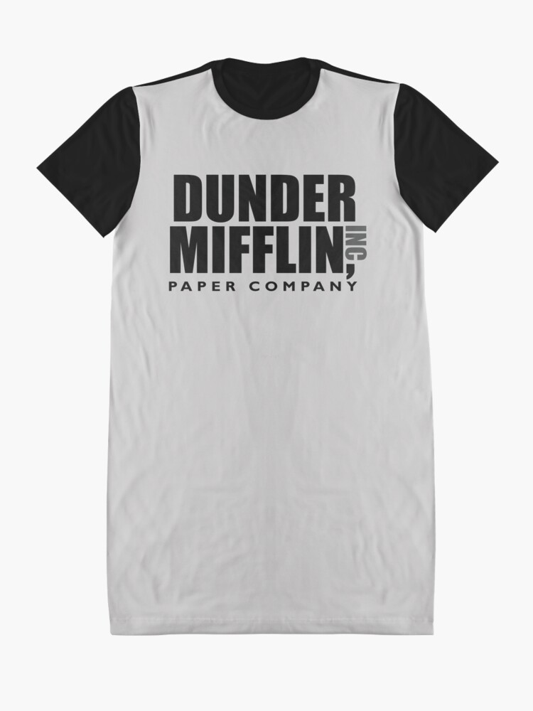 Alternate view of The Dunder Office Mifflin Inc. Design, T-Shirt, tshirt, tee, jersey, poster, Original Funny Gift Idea, Dwight Best Quote From Graphic T-Shirt Dress