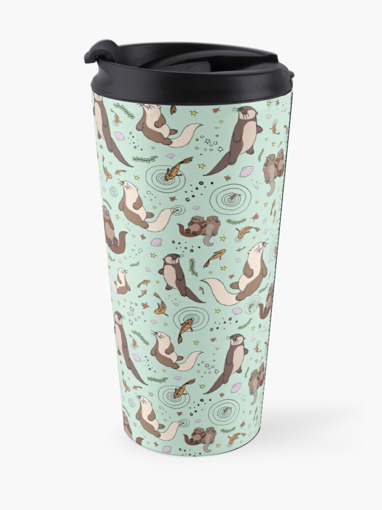 Alternate view of Otters in Blue Travel Mug