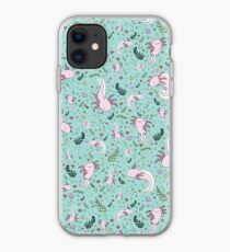 Little Sloth and Big Axolotl Watercolor iPhone 11 case