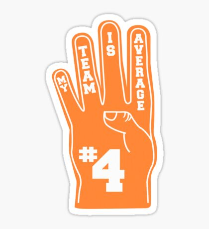 Orange Foam Finger Sticker