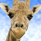 """""""Funny Face"""" - Giraffe giving a very animated smiling face by ArtThatSmiles"""