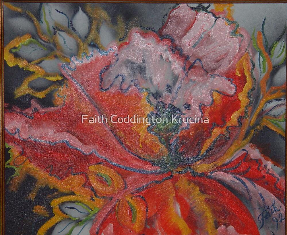 Fire Hibiscus by Faith Coddington Krucina