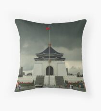 Chiang Kai-Shek with Prone Inflateable Dolls Throw Pillow