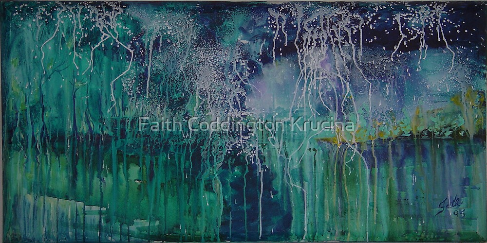 "Light Display 48"" x 24"" by Faith Coddington Krucina"