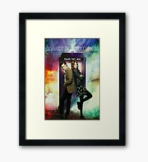 11th Doctor and Amelia Pond Framed Print