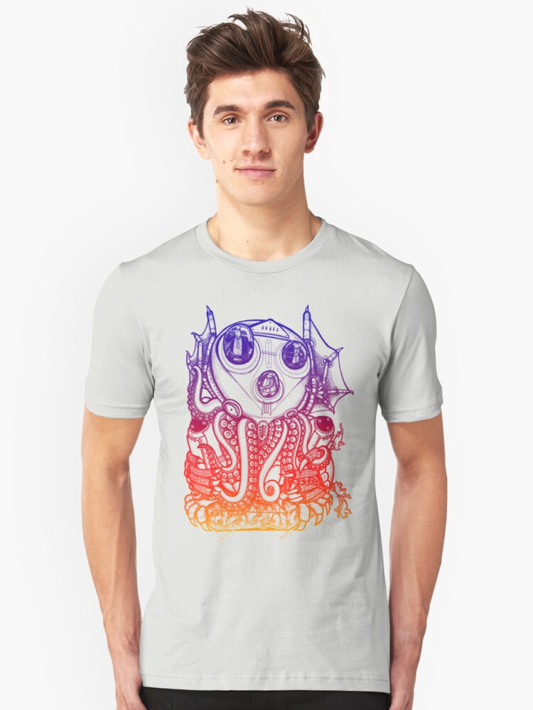 Cthulhu -Corporate Madness- cat version 2 Unisex T-Shirt Front