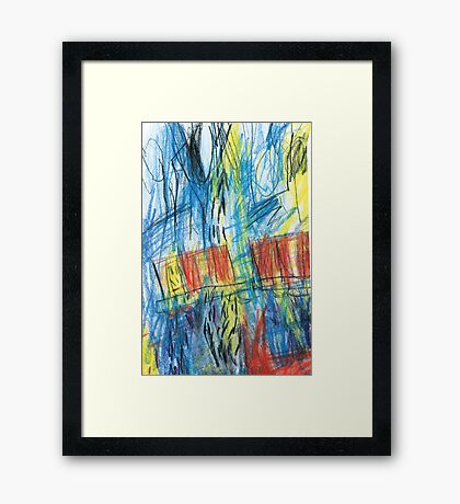 slow train Framed Print