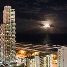Gold Coast moonlight by Stephanie Johnson