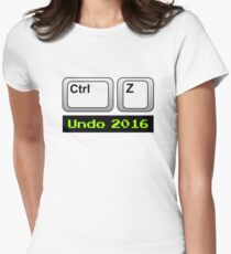 Undo 2016: Ctrl Z (PC) Fitted T-Shirt