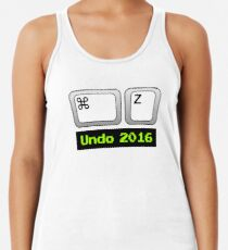 Undo 2016: Command ⌘ Z (Mac) Racerback Tank Top