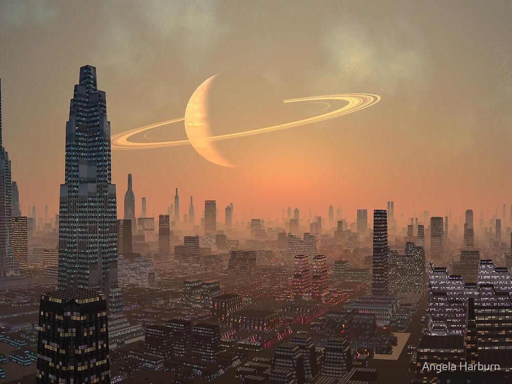 Hot Summer Night in Alien City by Angela Harburn
