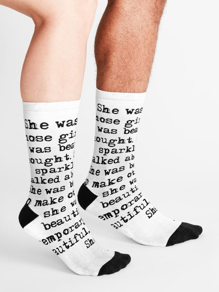 Alternate view of She was beautiful - F Scott Fitzgerald Socks