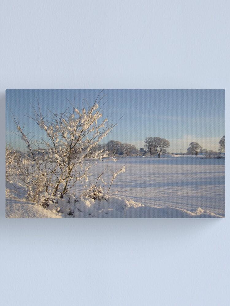 Alternate view of Winter Scene Dalmeny Canvas Print