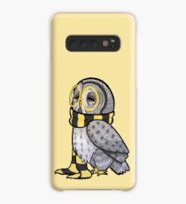 Kind Great Grey Owl with Scarf Case/Skin for Samsung Galaxy