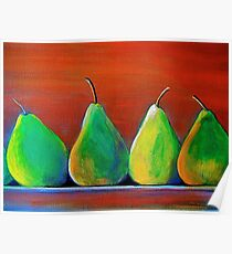 Two pairs of pears Poster