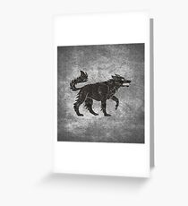 Direwolf Greeting Card