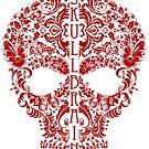 Flower Skull by skullbrain