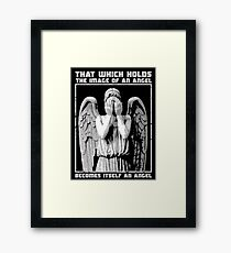 The image of an angel. Framed Print