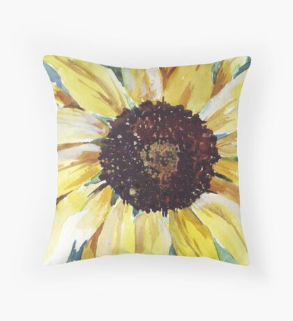 Helianthus annus (Sunflower) Throw Pillow