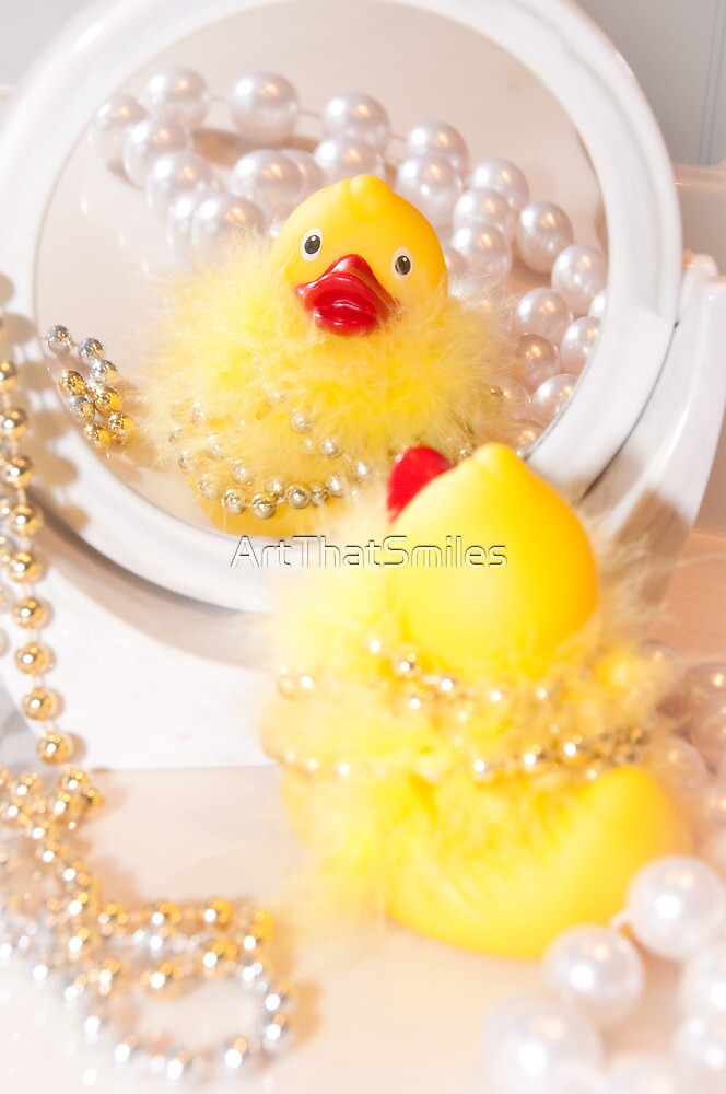 """""""Looking Ducky"""" - rubber ducky dresses up by ArtThatSmiles"""