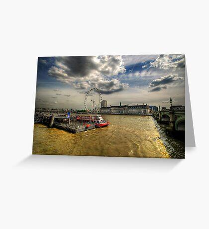 River Thames, London Greeting Card