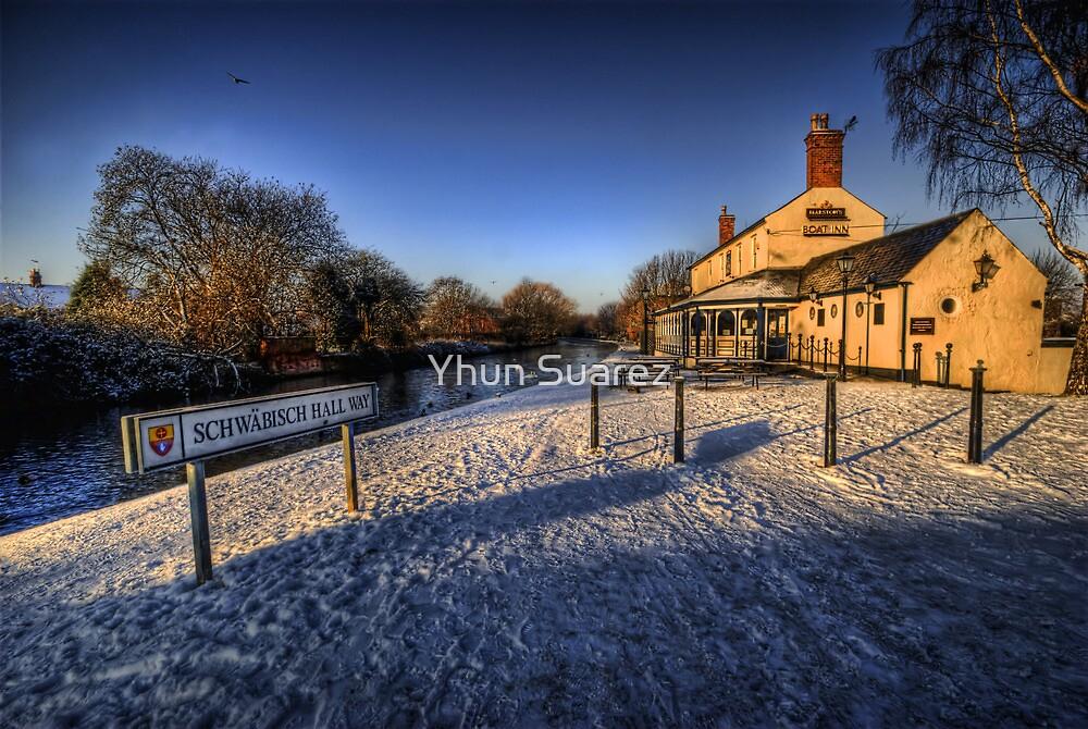 Winter At The Boat Inn  by Yhun Suarez