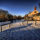 Winter At The Boat Inn  by Yhun Suarez