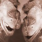 """""""Watering Hole Gossip"""" - Camels gossiping? by ArtThatSmiles"""