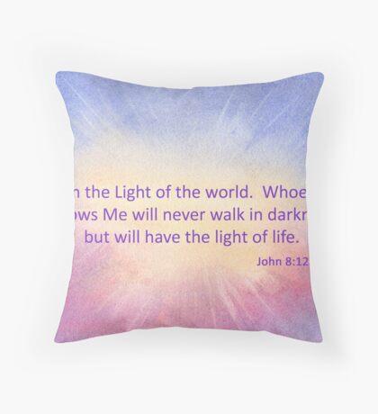 Let's Celebrate the Light of the World - John 8:12 Throw Pillow