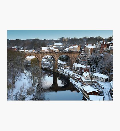 winter morning over the river Photographic Print