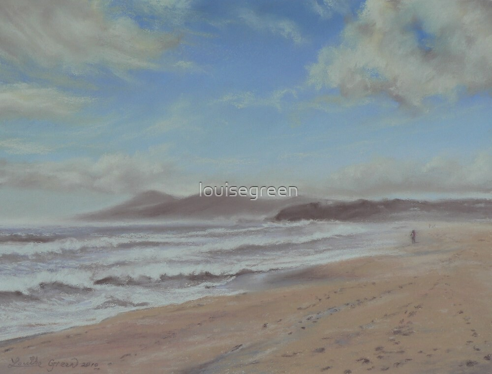 Morning's Haze - One Mile Beach, Forster by louisegreen
