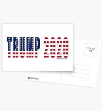 Trump 2020 Flag Postcards