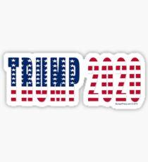 Trump 2020 Flag Sticker
