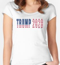 Trump 2020 Flag Fitted Scoop T-Shirt