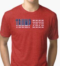 Trump 2020 Flag Tri-blend T-Shirt