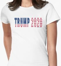 Trump 2020 Flag Fitted T-Shirt