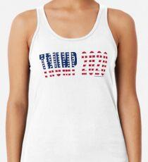 Trump 2020 Flag Racerback Tank Top